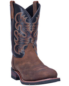 Laredo Men's Rockwell Western Work Boots - Steel Toe, Brown, hi-res