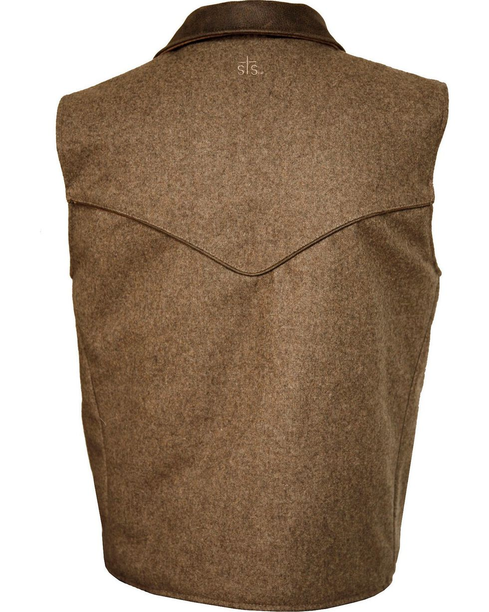 STS Ranchwear Men's Lariat Wool Vest, Brown, hi-res