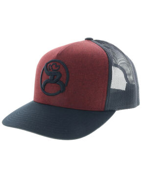 HOOey Men's Red Roughy 2.0 Trucker Cap, Red, hi-res