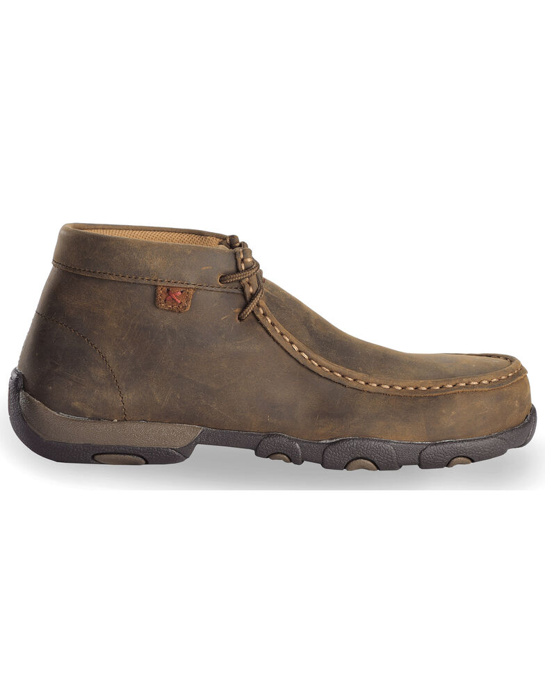 Twisted X Women's Driving Moc Work Shoes - Steel Toe, Distressed, hi-res