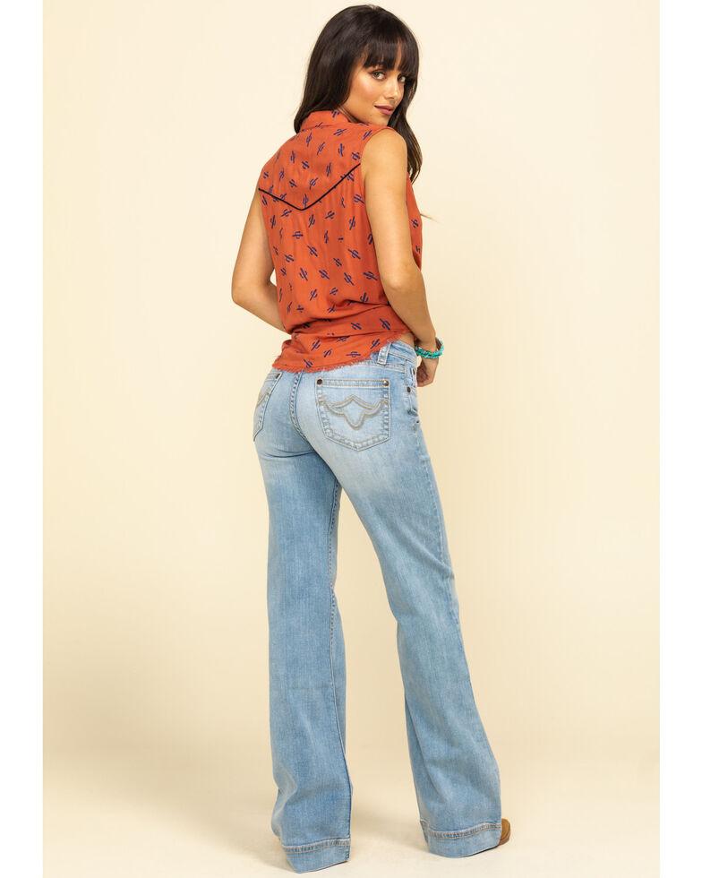 Shyanne Life Women's Light Wash Trousers , Blue, hi-res