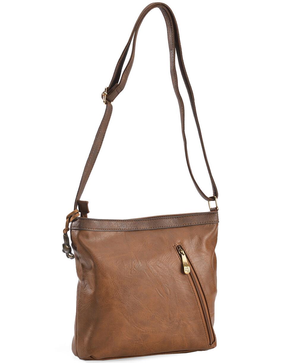Justin Women's Caramel Stitch Concealed Carry Crossbody Bag, Brown, hi-res