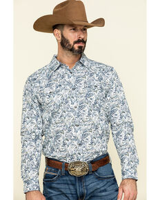 Cody James Men's Jumpin Claims Paisley Print Long Sleeve Western Shirt , Tan, hi-res