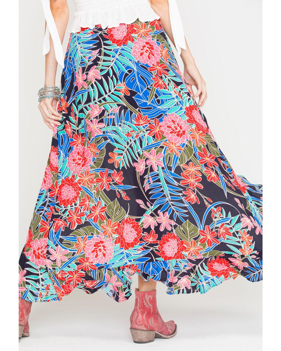 Miss Me Women's Floral Print Skort, Navy, hi-res