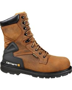 "Carhartt Men's 8"" Bison Waterproof Work Boots - Composite Toe, Bison, hi-res"