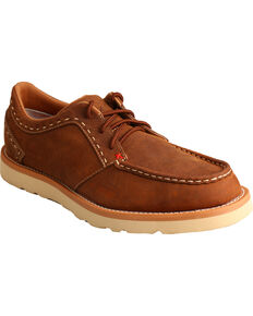 Twisted X Men's Lace Up Casual Moc Shoes, Brown, hi-res