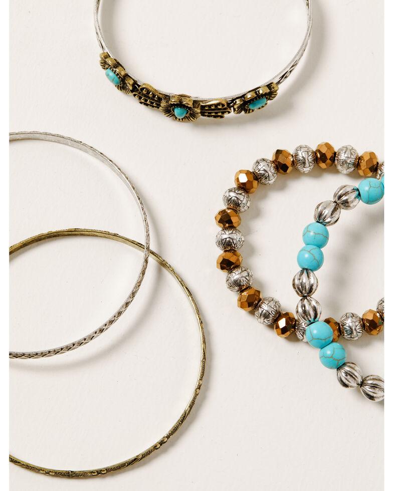Shyanne Women's Ida Mixed 5pc Bracelet Set, Silver, hi-res