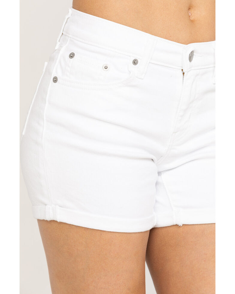Levi's Women's Mid Length Shorts, White, hi-res