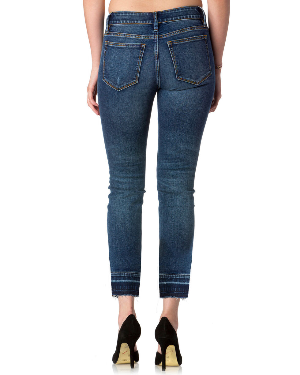 Miss Me Women's On Track Mid-Rise Ankle Skinny Jeans , Blue, hi-res