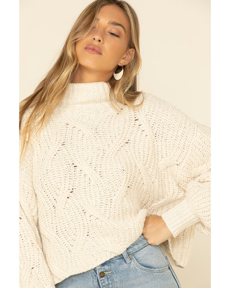 Free People Women's Ivory Seasons Change Sweater , Ivory, hi-res