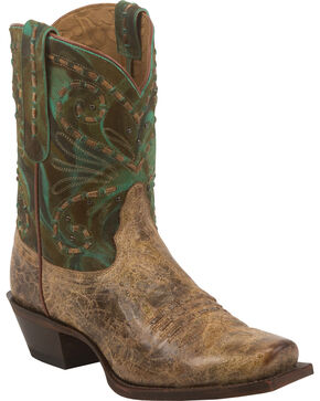 Tony Lama Women's 100% Vaquero Western Booties, Brown, hi-res