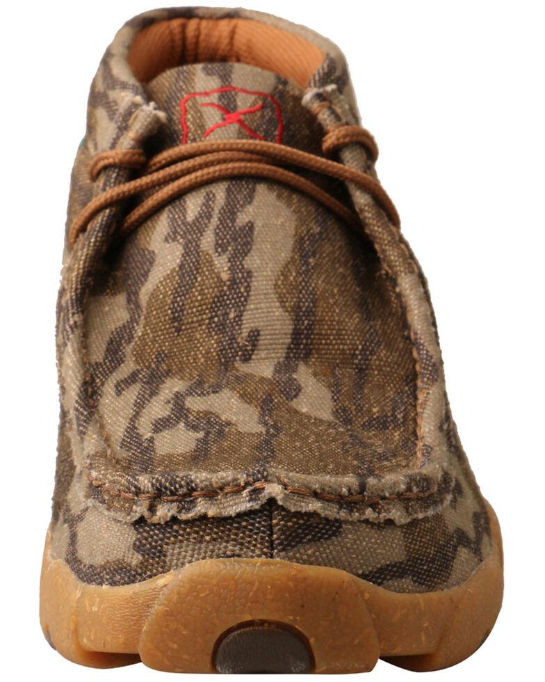Twisted X Men's Mossy Oak Original Bottomland Driving Moc Shoes - Moc Toe, Camouflage, hi-res