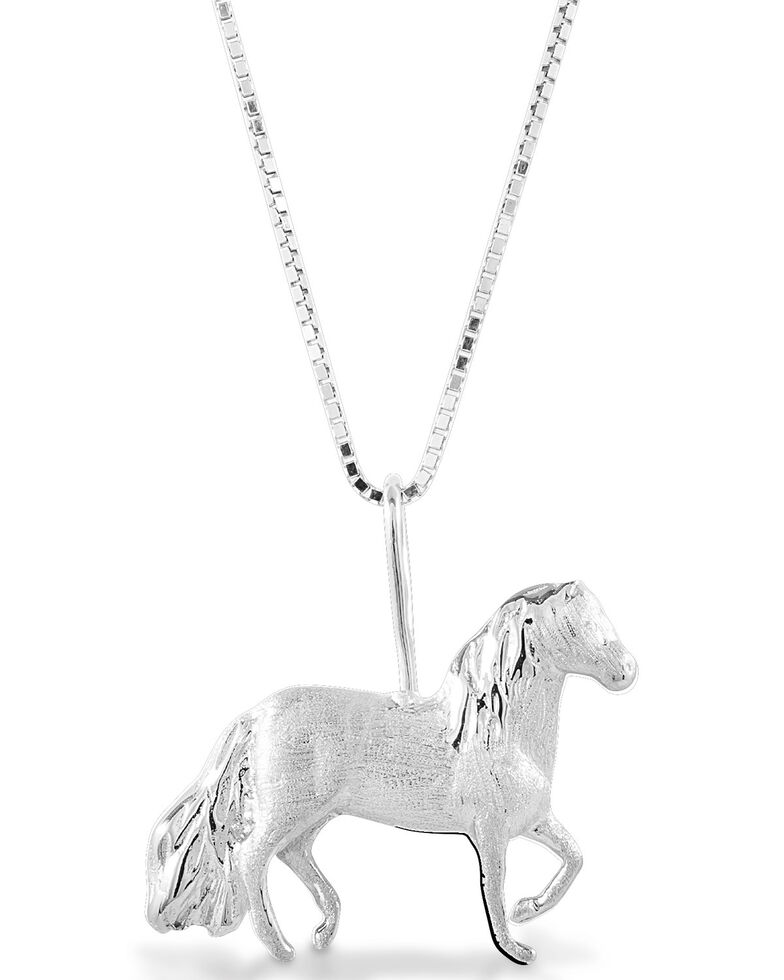 Kelly Herd Women's Paso Fino Pendant Necklace, Silver, hi-res