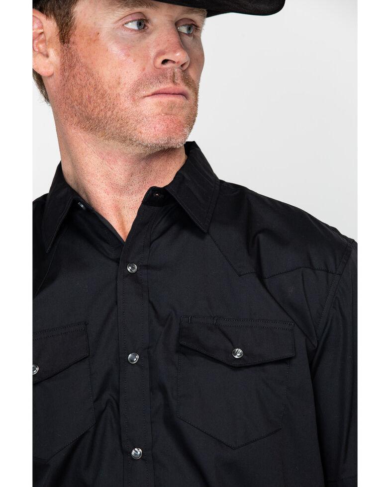 Gibson Men's Black Lava Snap Short Sleeve Western Shirt, Black, hi-res