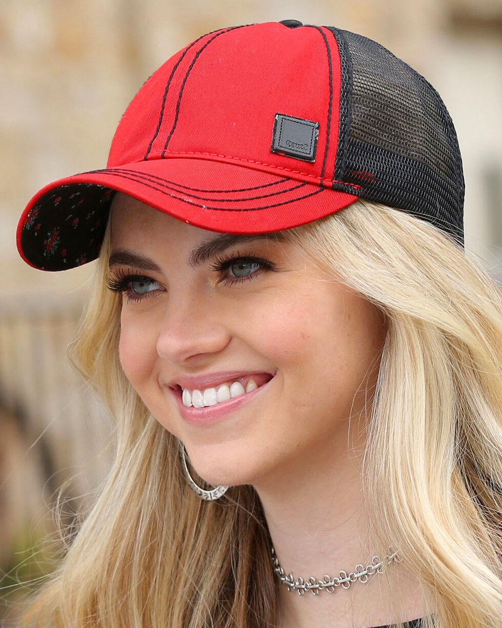 Cruel Girl Women's Trucker Cap, Red, hi-res