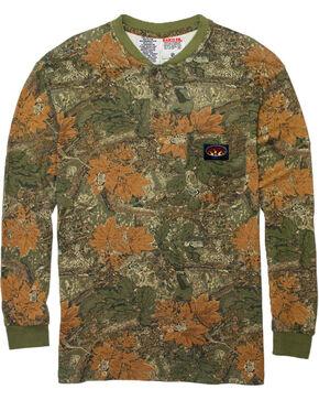 Rasco Men's Camo FR Henley T-Shirt , Camouflage, hi-res
