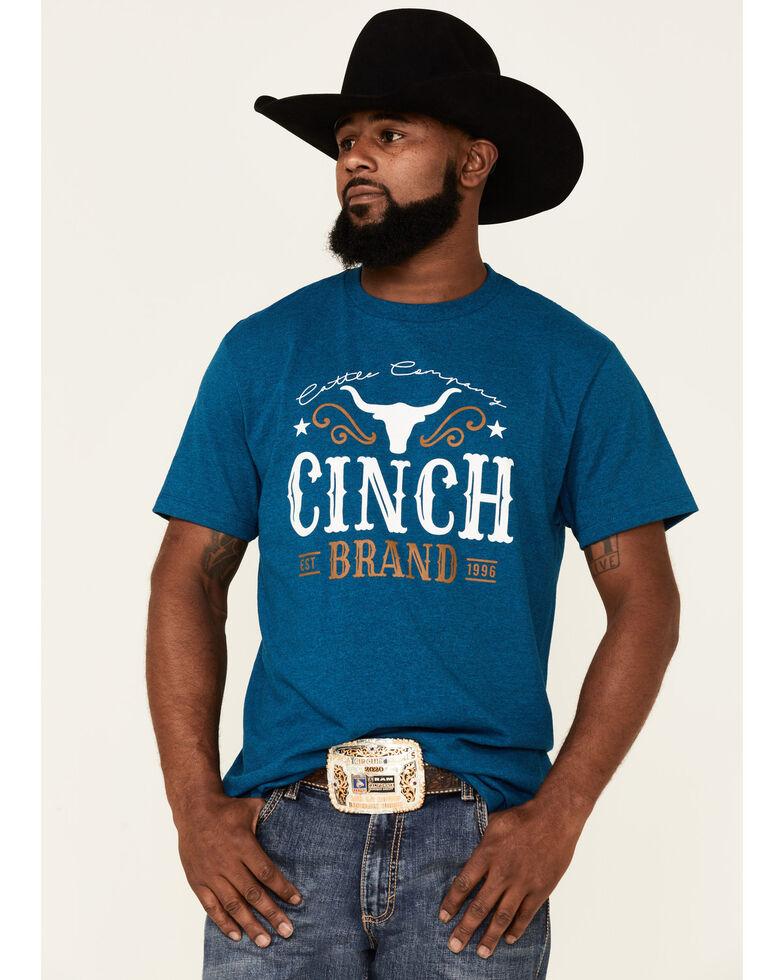 Cinch Men's Navy Steerhead Graphic Short Sleeve T-Shirt , Navy, hi-res