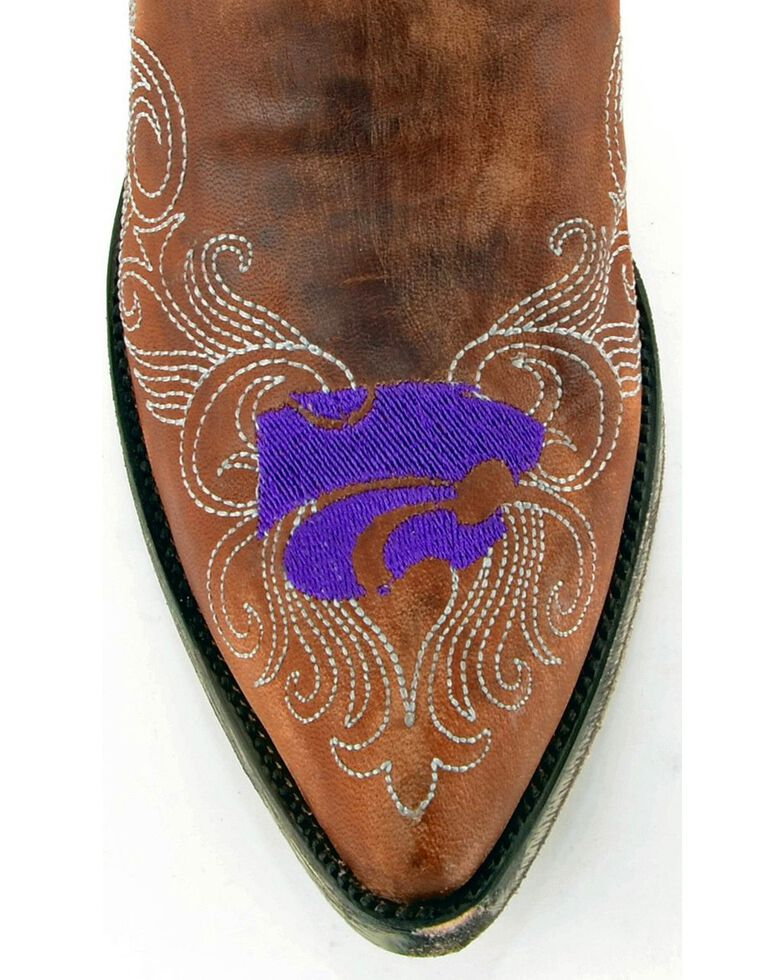 Gameday Women's Kansas State University Cowgirl Boots - Pointed Toe, Brass, hi-res