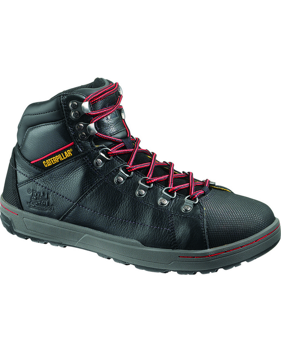 CAT Men's Brode Hi Steel Toe Work Boots, Black, hi-res