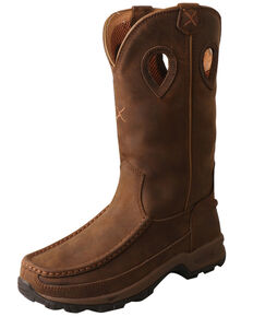 Twisted X Women's Hiker Western Boots - Moc Toe, Distressed Brown, hi-res