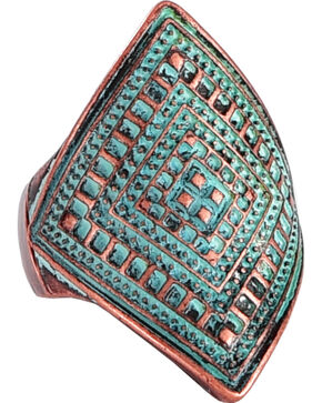 Shyanne® Women's Western Pattern Ring, Turquoise, hi-res