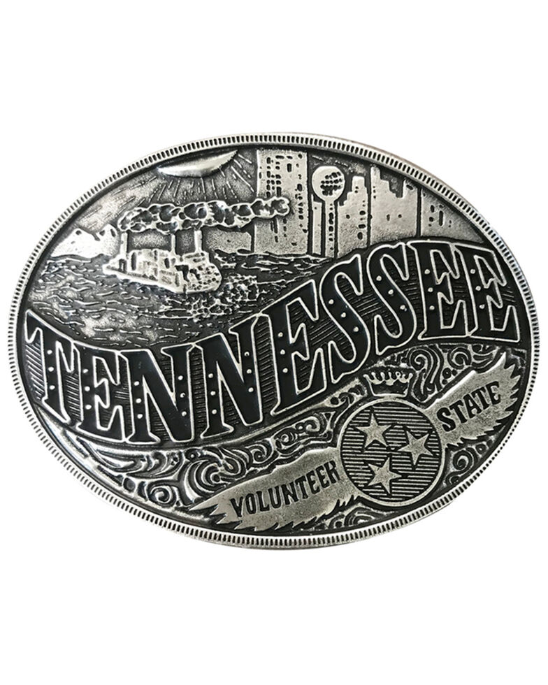 And West Tennessee American Heritage Buckle, Silver, hi-res