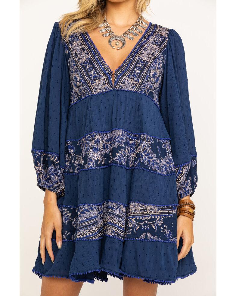 Free People Women's My Love Mini Dress, Blue, hi-res