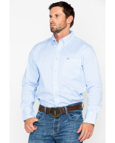 Wrangler 20X Men's Periwinkle Performance Long Sleeve Western Shirt, Periwinkle, hi-res