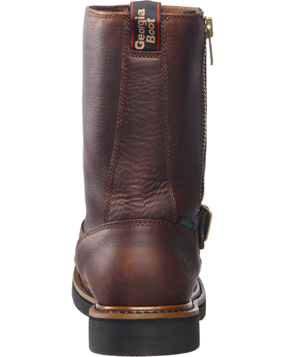 Georgia Men's Wellington Waterproof Work Boots, Copper, hi-res