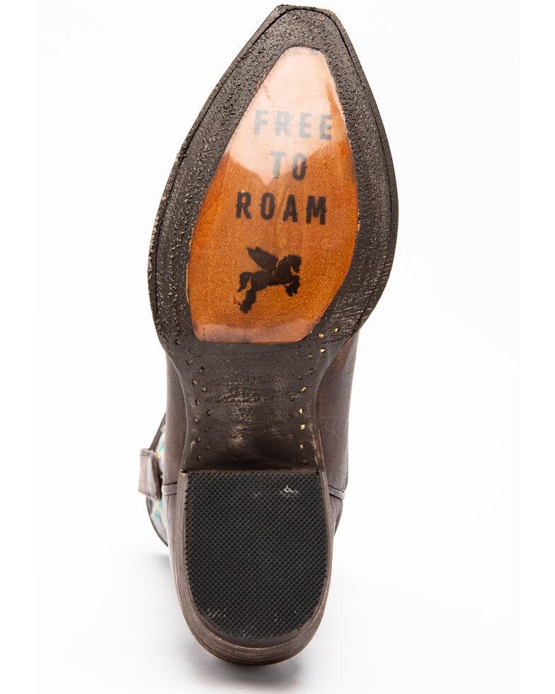 Idyllwind Women's Roanoke Western Performance Boots - Snip Toe, Chocolate/turquoise, hi-res