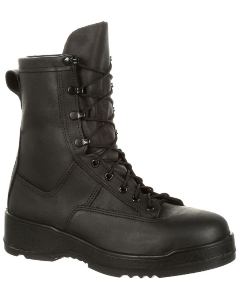 Rocky Men's Entry Level Hot Weather Military Boots - Steel Toe, Black, hi-res