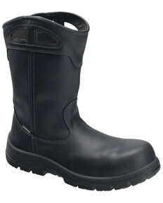 Avenger Men's Framer Waterproof Western Work Boots - Composite Toe, Black, hi-res