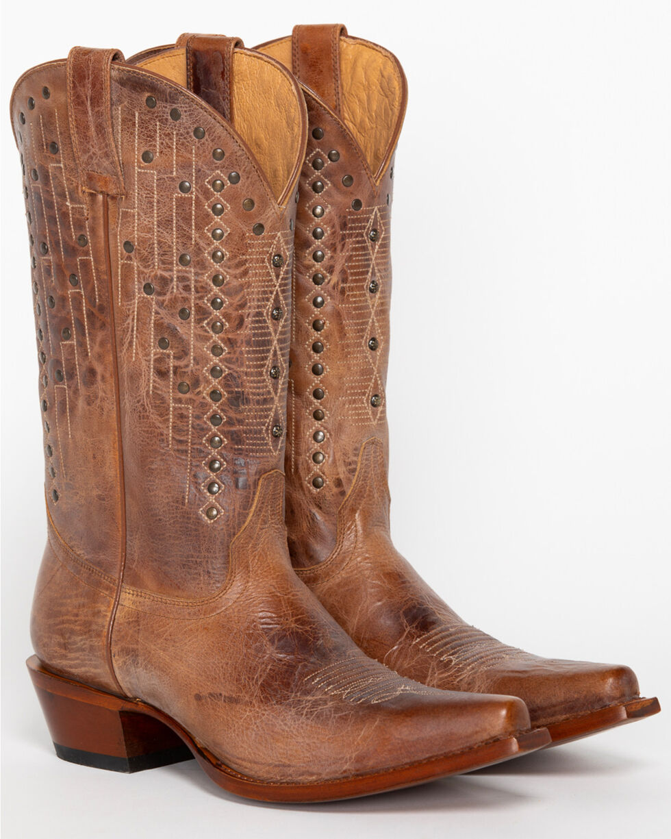 Shyanne Women's Jessica Studded Western Boots - Snip Toe, Tan, hi-res