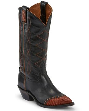 Tony Lama Women's Emilia Western Boots - Pointed Toe, Black, hi-res