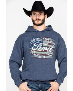 Buck Wear Men's FMC Own One Graphic Hooded Sweatshirt , Navy, hi-res