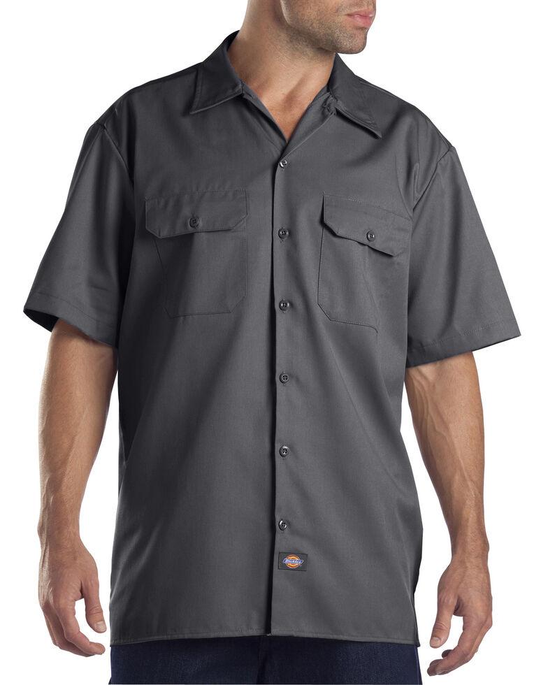 Dickies Men's Short Sleeve Work Shirt, Charcoal Grey, hi-res