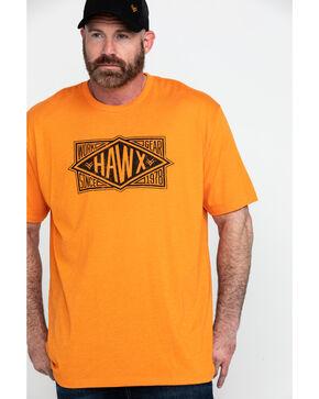 Hawx Men's Diamond Gear Graphic Work T-Shirt , Heather Orange, hi-res