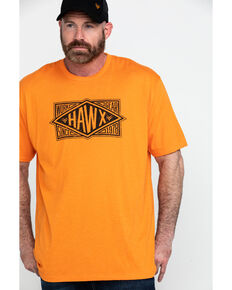 Hawx Men's Diamond Gear Graphic Work T-Shirt , Heather Orange, hi-res