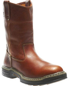 Wolverine Men's Raider Contour Welt Wellington Work Boots, Brown, hi-res