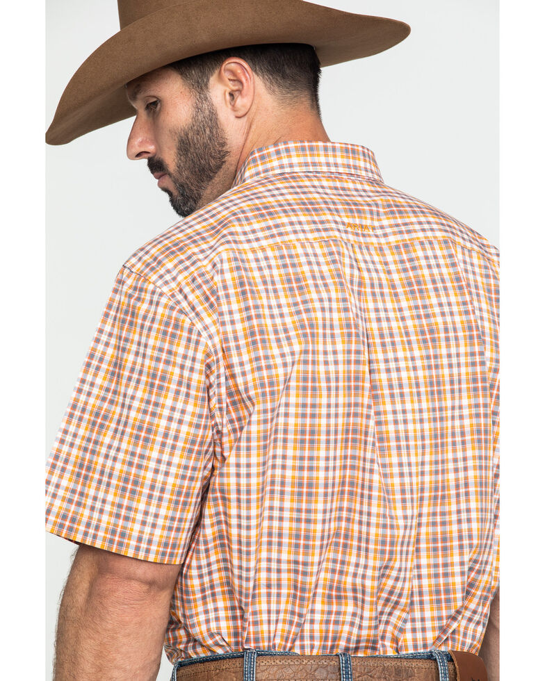 Ariat Men's Freemont Multi Plaid Short Sleeve Western Shirt, Multi, hi-res