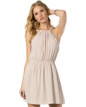 Miss Me Women's Fringe Zone Dress, Light/pastel Purple, hi-res