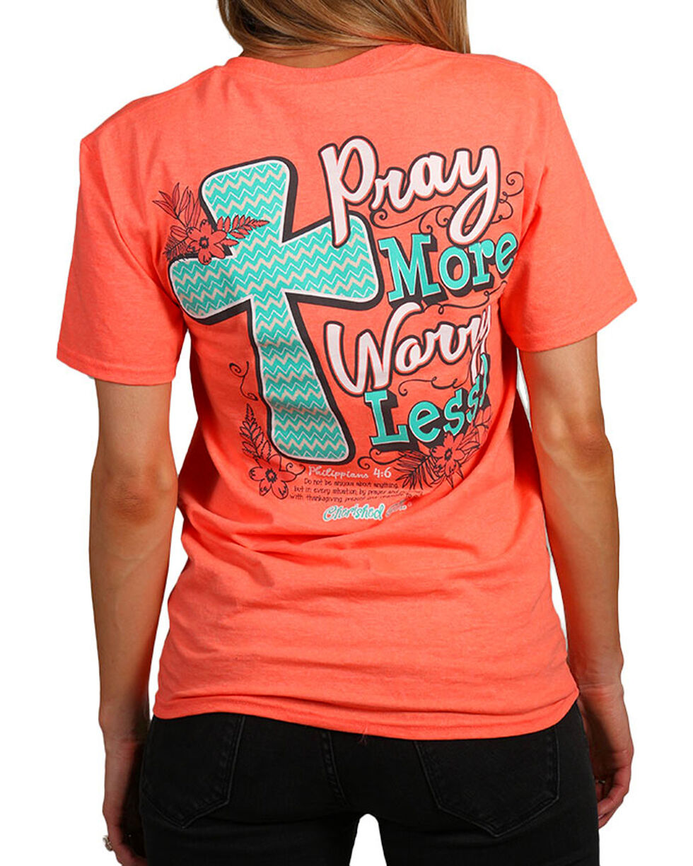 "Cherished Girl Women's ""Pray More"" Graphic Tee, , hi-res"
