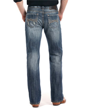Rock & Roll Cowboy Men's Vintage Double Barrel Straight Leg Jeans, Blue, hi-res