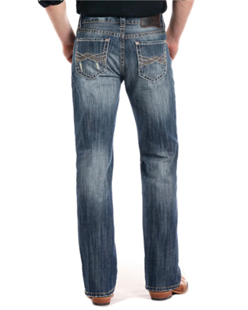 Rock & Roll Cowboy Men's Vintage Double Barrel Straight Leg Jeans, Blue, hi-res