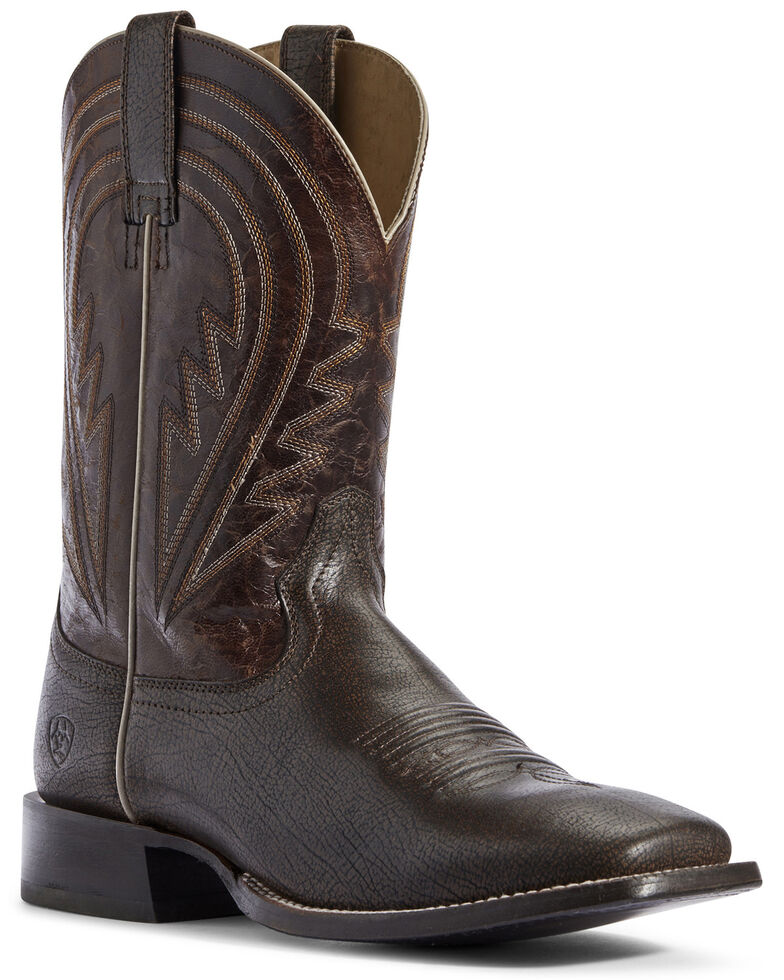 Ariat Men's Herd Boss Western Boots - Wide Square Toe, Black, hi-res