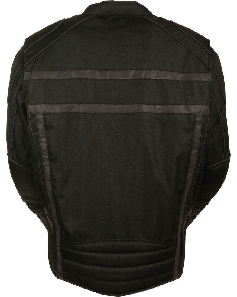 Milwaukee Leather Black Vented Reflective Jacket , Black, hi-res