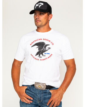 Cody James Men's American Denim Co. Short Sleeve T-Shirt, White, hi-res