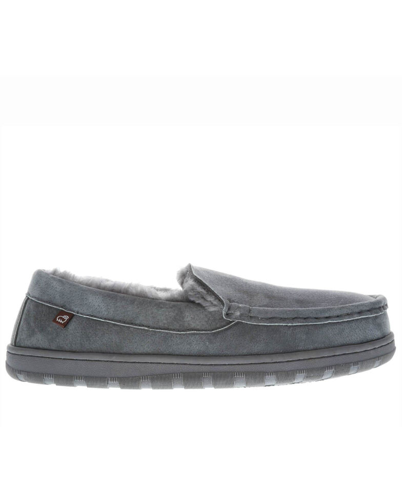 Lamo Footwear Men's Harrison Slippers - Moc Toe, Charcoal, hi-res