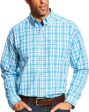 Ariat Men's Pro Series Lonnie Multi Plaid Long Sleeve Button Down Shirt, Multi, hi-res