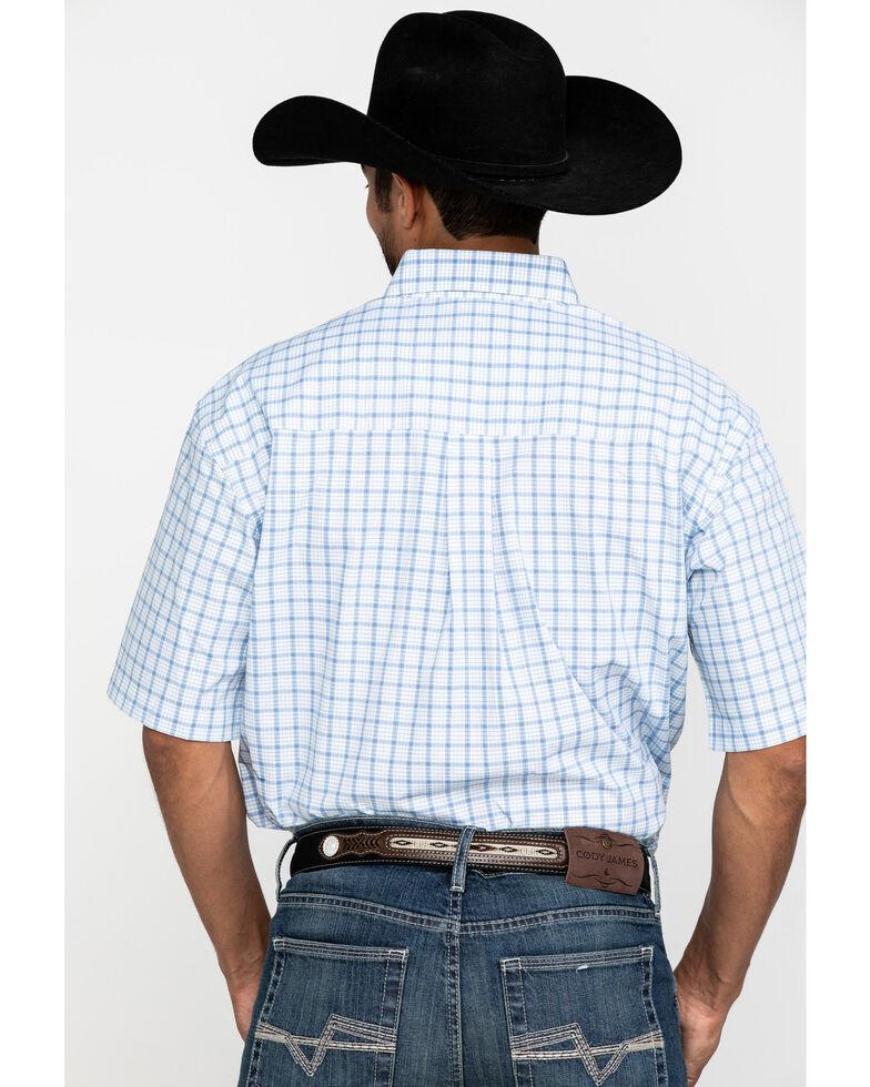George Strait By Wrangler Men's Blue Plaid Short Sleeve Western Shirt , Blue, hi-res